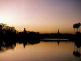 Sunset on Royal Lake, Yangon (Rangoon), Myanmar (Burma) Photographic Print by  Upperhall