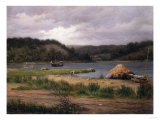 Clamming, Long Island Reproduction procédé giclée par Henry Alexander