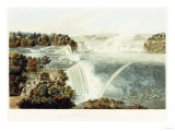 Niagara Falls. Painted from the Chinese Pagoda, Point View Gardensr, 1845 Giclee Print by John Bachman