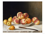 Still Life with Peaches and Pears Giclee Print by Thomas Birch