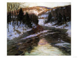 Winter Stream Giclee Print by Robert Blum