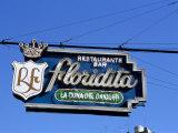 Floridita Restaurant and Bar Where Hemingway Drank Daiquiris, Havana, Cuba, West Indies Lámina fotográfica por  R H Productions