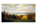 View of the Hudson Near Hastings, Signed & Dated 1895 Giclee Print by Thomas Jones Barker