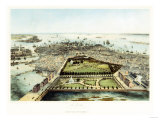 A Bird's Eye View of Boston, 1850 Giclee Print by John Bachman