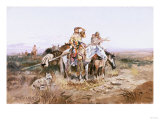 Squaws Moving Camp Premium Giclee Print by Soren Emil Carlsen