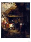 Moroccan Bazaar Poster by Thomas Moran