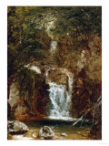 Cascade Near Lake George Premium Giclee Print by Robert Blum