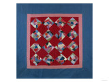 An Amish Crazy Quilt Pattern Coverlet. 'K.F.', Lancaster County, Pennsylvania, 1922 Giclee-trykk