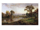 Riverscape, Early Autumn, 1888 Giclee Print by Thomas Birch