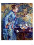 Girl in Blue Kimono, 1911 Poster by Soren Emil Carlsen