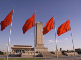 Mao Tse-Tung Memorial and Monument to the People's Heroes, Tiananmen Square, Beijing, China Photographic Print by Adam Tall
