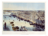 A Bird's Eye View of Philadelphia, Printed by Sarony & Major, New York, 1850 Giclee Print by John Bachman