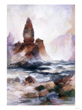 Tower Falls and Sulfur Rock, Yellowstone Posters by Soren Emil Carlsen