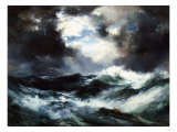 Moonlit Shipwreck at Sea Thomas Moran (1837-1926), 1901 Giclee Print by Thomas Moran