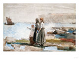 Waiting for the Return of the Fishing Fleets, 1881 Giclee Print by Thomas Jones Barker