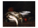 Still Life with Fish Premium Giclee Print by Robert Blum