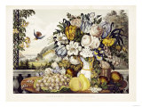Landscape, Fruit and Flowers, 1862, Publisher, Currier and Ives Giclee Print by Charles Deas