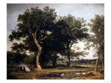 Landscape Near Minden, Germany, 1855 Giclee Print by David Gilmour Blythe