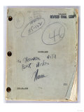 Final Script for Film 'Citizen Kane' with Annotations in Orson Welles' Hand, July 16th, 1940 Impresso gicle