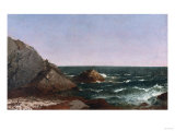 Rocks Near Newport Giclee Print by Thomas Birch