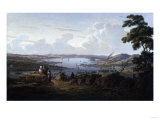 View of Dunbarton and the River Clyde, 1817 Giclee Print by Thomas Birch