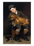 Friends Reproduction procédé giclée par John George Brown