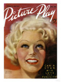 Jean Harlow (1911-1937) on the Cover of the April 1936 Issue of 'Picture Play' Magazine, 1936 Giclee Print