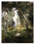 Forest Glade, Santa Barbara, 1918 Giclee Print by Thomas Jones Barker