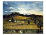 An American Farm, American School (19th Century) Giclee Print by John Bachman