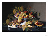 Still Life with a Milk Glass Compote, 1853 Giclee Print by Filipo Or Frederico Bartolini