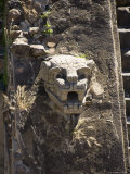 Gargoyles on the Temple of Quetzalcoati, Teotihuacan, Unesco World Heritage Site, Mexico Photographic Print by R H Productions 