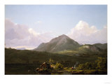 Camp Fire in the Maine Wilderness, Circa 1850 Giclee Print by Frederic Edwin Church