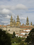 Santiago Cathedral with the Palace of Raxoi in Foreground, Santiago De Compostela, Spain Photographic Print by  R H Productions