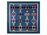 An Amish Bird in Flight Design Coverlet, Midwestern, Pieced and Quilted Cotton, 1900-1925 Giclee Print