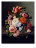 Still Life with Flowers Giclee Print by Thomas Birch
