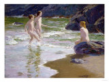 Young Bathers Giclee Print by Robert Blum