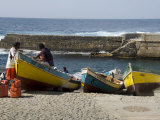 Fishing Boats at the Port of Ponto Do Sol, Ribiera Grande, Santo Antao, Cape Verde Islands Photographic Print by  R H Productions