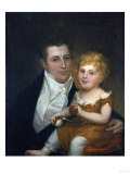 Portrait of Dr. Samuel Simes and His Daughter, Mary Jane Giclee Print by Thomas Birch
