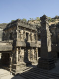 The Kailasa (Kailasanatha) Temple, Ellora Caves, Temples Cut into Solid Rock, Near Aurangabad Photographic Print by  R H Productions