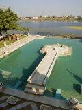 View of Swimming Pool at Udai Vilas Palace Now a Heritage Hotel, Dungarpur, Rajasthan State, India Photographic Print by  R H Productions