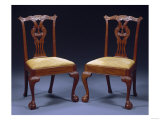 A Chippendale Carved Mahogany Side Chair, New York, 1760-1770 Giclee Print by Adler &amp; Sullivan 