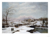 Winter Activity, 1847 Giclee Print by Thomas Birch