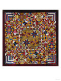 A Crazy Quilt Pattern Coverlet, 1880-1890 Giclee Print