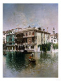 Venice, the Grand Canal, 1890 Premium Giclee Print by Robert Blum