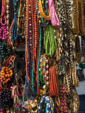 Necklaces on a Market Stall in the Cloth Hall on Main Market Square, Krakow, Poland Photographic Print by R H Productions 