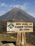 The Volcano of Pico De Fogo in the Background, Fogo (Fire), Cape Verde Islands, Africa Photographic Print by  R H Productions