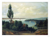 View of New York from New Jersey Giclee Print by John Bachman