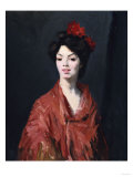 Spanish Woman in Red Shawl, 1907 Art by George Wesley Bellows