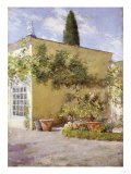 Orangerie of the Chase Villa, Florence, Italy Premium Giclee Print by Thomas Jones Barker