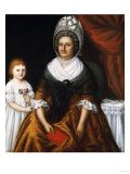 Mrs. John Moale (Ellin North) and Ellin North Moale: a Double Portrait. Joshua Johnston (1763-1824) Giclee Print by Thomas Jones Barker